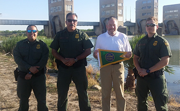 Brian Conroy and OBP Personnel at the Rio Grande Valley River